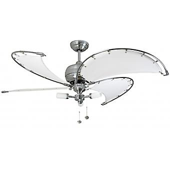 Ceiling Fan Spinnaker white with lighting 102 cm / 40