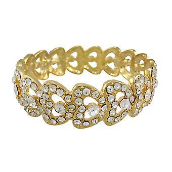 Goldtone Rhinestone Encrusted Bangle Bracelet