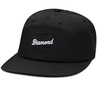 Diamond Supply Co Script Clipback Baseball Cap Black