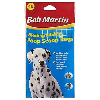 Bob Martin Biodegradable Poop Scoop Bags 40pk (Pack of 15)