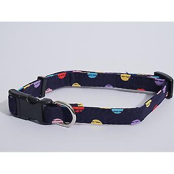 Wag N Walk Nylon Collar Multi Spot 1