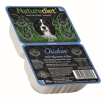 Naturediet kylling med grøntsager & ris Twin Pack 280g (pakke med 18)
