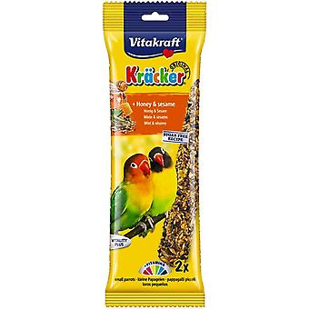 Vitakraft African Parrot & Lovebird Small Breed Honey Sticks 2pk (Pack of 5)