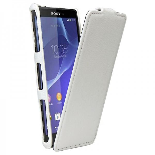 White for Sony Xperia style flip Tasche Z3 compact D5803 M55W