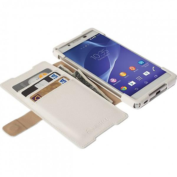 Krusell Malmö BookCover for Sony Xperia Z3 plus + Z3 + dual Weis