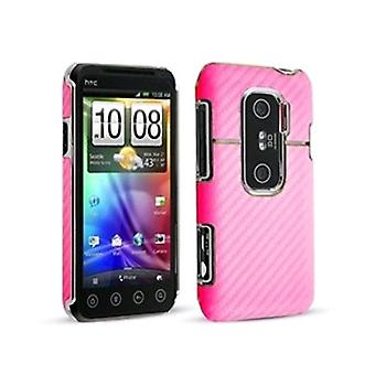 Technocel grafit skjold for HTC Evo 3G - Pink