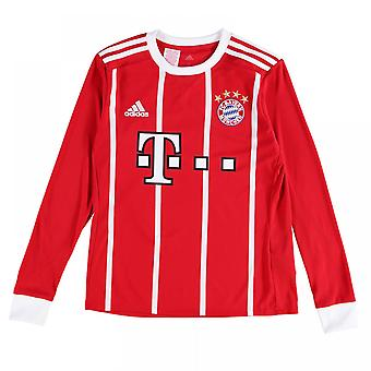 2017-2018 Bayern Munich Adidas Home Long Sleeve Shirt (Kids)