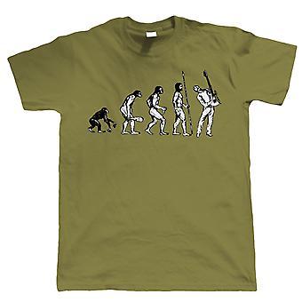 Evolution of Guitarist, Mens Funny Guitar Tshirt
