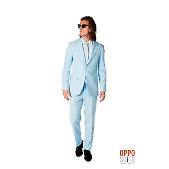 Cool blue light blue suit Opposuit slimline Premium 3-piece set