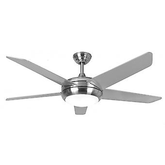 Ceiling Fan Neptune in Stainless Steel with Light
