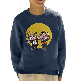 Trick Or Treat amerikanske valg 2016 Trump Clinton Kid's Sweatshirt