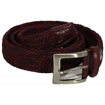 40 Colori Double Threaded Elasticated Belt - Burgundy