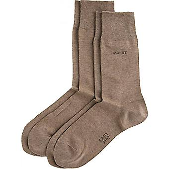 Esprit Basic Soft Cuff 2 Pack Socks - Nutmeg Brown
