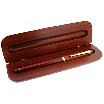 Gift Time Products Cartridge Pen and Box - Dark Brown/Gold