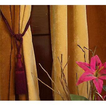 Handgefertigte Vorhang Zugband Maroon / Raffhalter / Tassel - paar