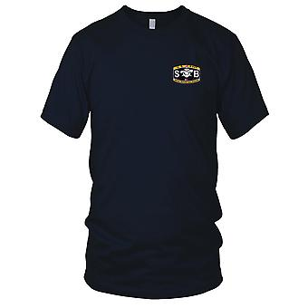 US Navy Weapons Rating Special Warfare Boat Operator Embroidered Patch - Mens T Shirt
