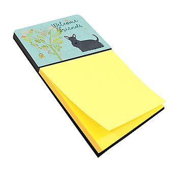 Welcome Friends Scottish Terrier Sticky Note Holder
