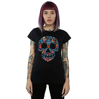 Disney Women's Coco Skull Pattern T-Shirt