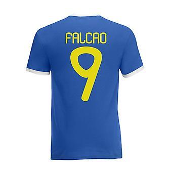 Falcao Colombia Camiseta del campanero (azul)