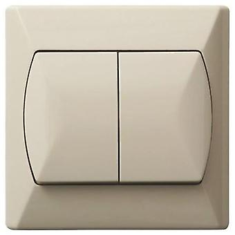 Simple Double Buttons Basic Indoor Light Switch Click Wall Plate Three Colours