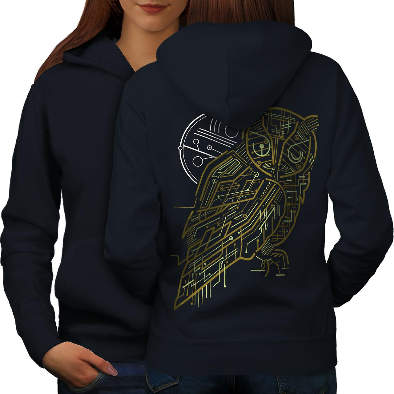 Nature chouette système femmes animale NavyHoodie dos