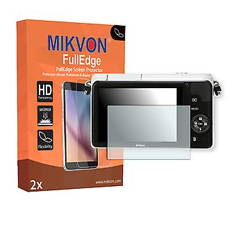 Nikon 1 S1 screen protector - Mikvon FullEdge (screen protector with full protection and custom fit for the curved display)