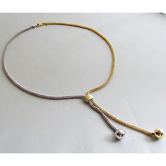 Collar de oro bicolor
