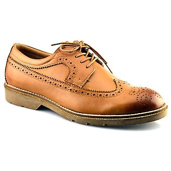 Mens New Leather Flexible Memory Foam Formal Lace Up Brogues Dress Shoes