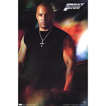 Schnelle 5 - Dominic Toretto Poster drucken