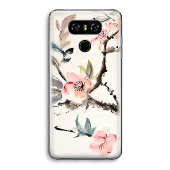 LG G6 Transparent Case - Japenese flowers