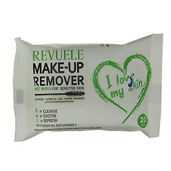 Revuele Make Up Remover Sensitive Skin Facial Wet Wipes 20pc