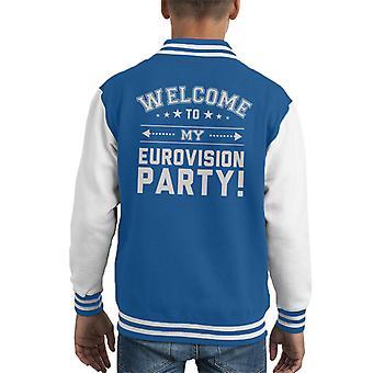 Willkommen in meinem Kind Eurovision Party der Varsity Jacket
