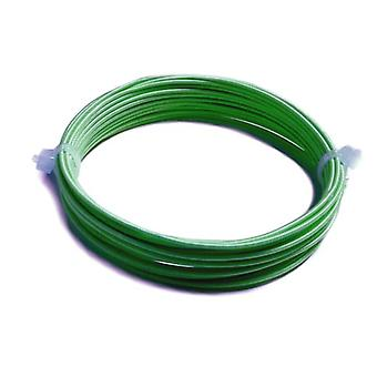 1 x Dark Green Plated Aluminium 0.9mm x 4m Round Craft Wire Coil X1380