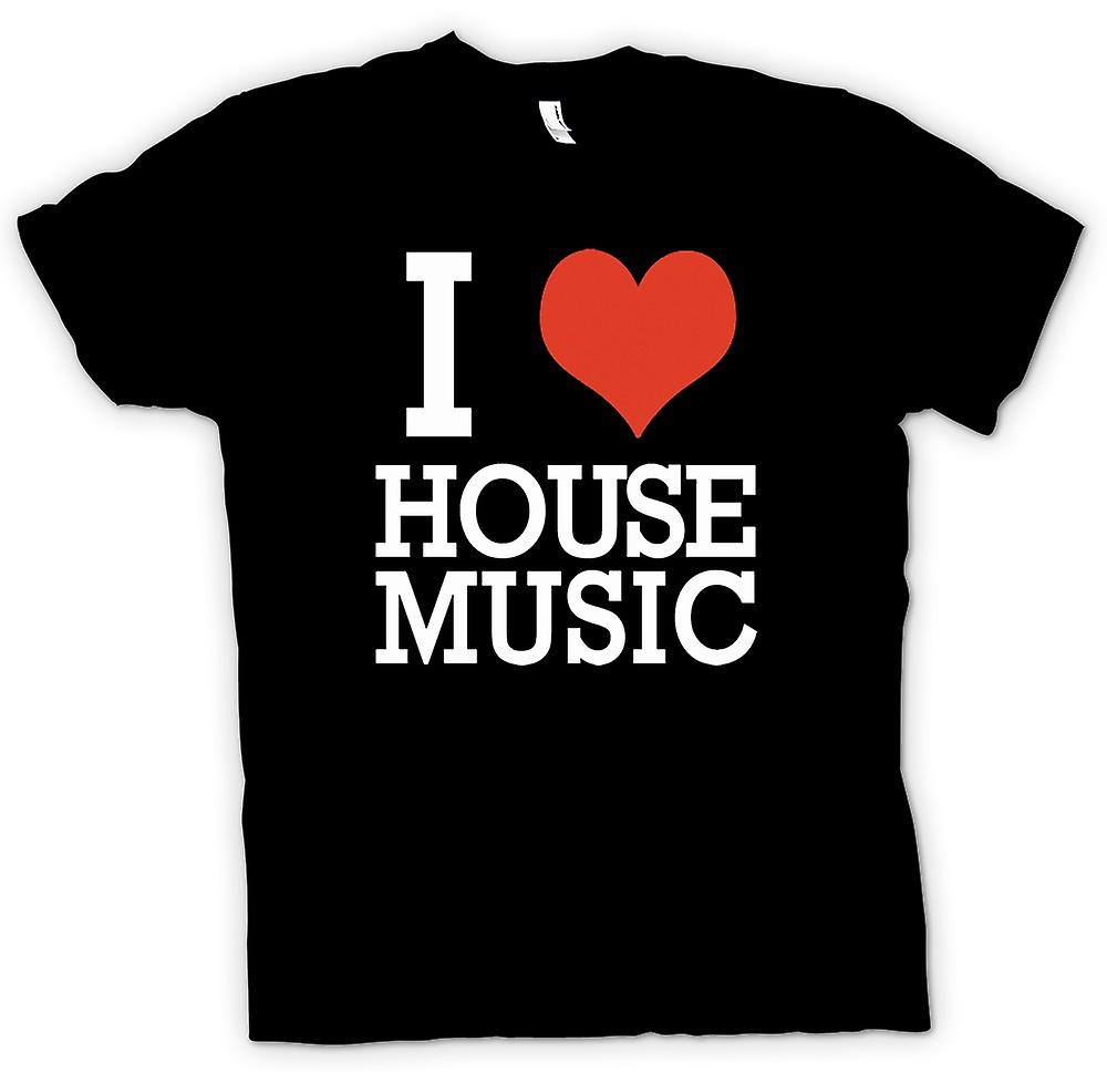 T-shirt - I Love cuore House Music - DJ