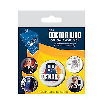 Doctor Who Badge Pack 12th Doctor tardis time lord new Official 5 X button