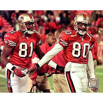 Terrell Owens & Jerry Rice 1997 Photo Print