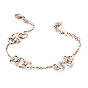 Orphelia Silver 925 Bracelet Rosegold Hearts  ZA-7179/RG