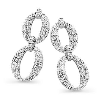 Orphelia Silver 925 Earring Drop Links Zirconium  ZO-7211