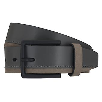LLOYD Men's belt belts men's belts leather belt sneaker grey 6890