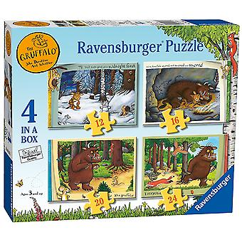 Ravensburger The Gruffalo 4 in Box (12, 16, 20, 24pc) Jigsaw