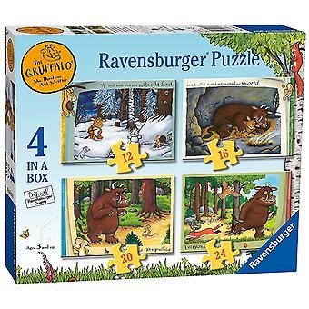 Ravensburger Gruffalo 4 (12, 16, 20, 24pc)-ruutuun Jigsaw