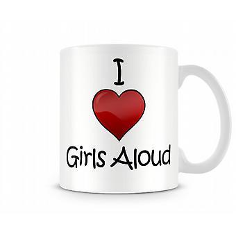 J'aime les filles Tasse Aloud Imprimé