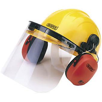 Draper Shemv Safety Helmet With Ear Muffs And Visor