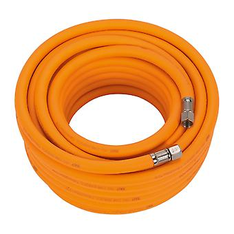 Sealey Ahhc15 Air Hose 15Mtr X �8Mm Hybrid High Visibility With 1/4In Bsp Unions