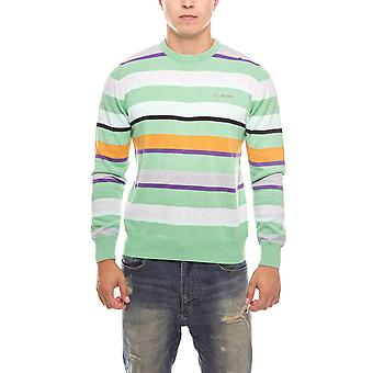 BILLABONG of striped men's ribbed knit sweater Green