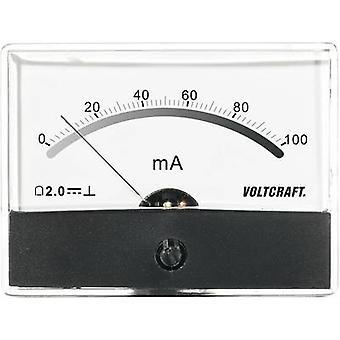 Analogue rack-mount meter VOLTCRAFT AM-86X65/100MA