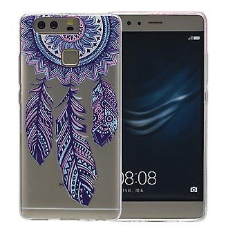 Couverture de henné pour capteur de rêves Huawei P9 Lite Housse Etui de protection silicone