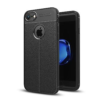 Silicon skin cover case for Apple iPhone 7 cover frame Pouch Black