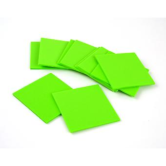 10 Lime Green Small Craft Foam Squares | Childrens Craft Foam