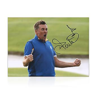 Ian Poulter Signed Photo: Ryder Cup 2018